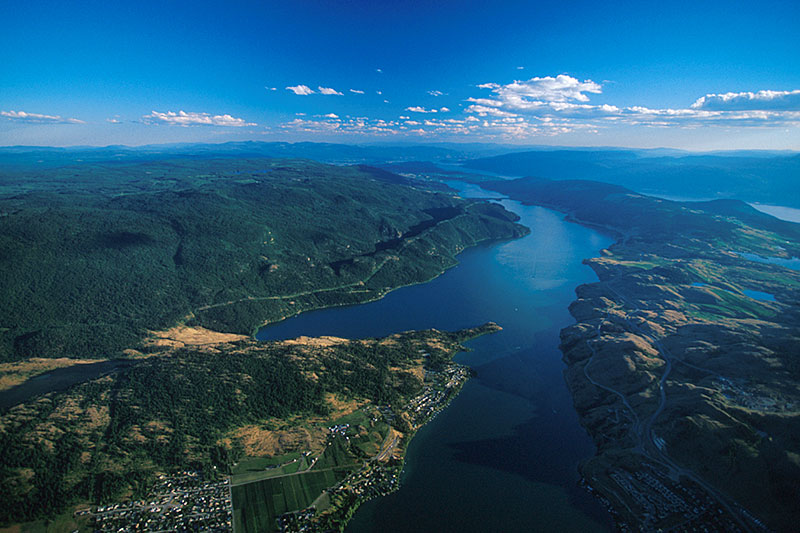 Kalamalka Lake, south of Vernon in the Okanagan Valley, British Columbia
