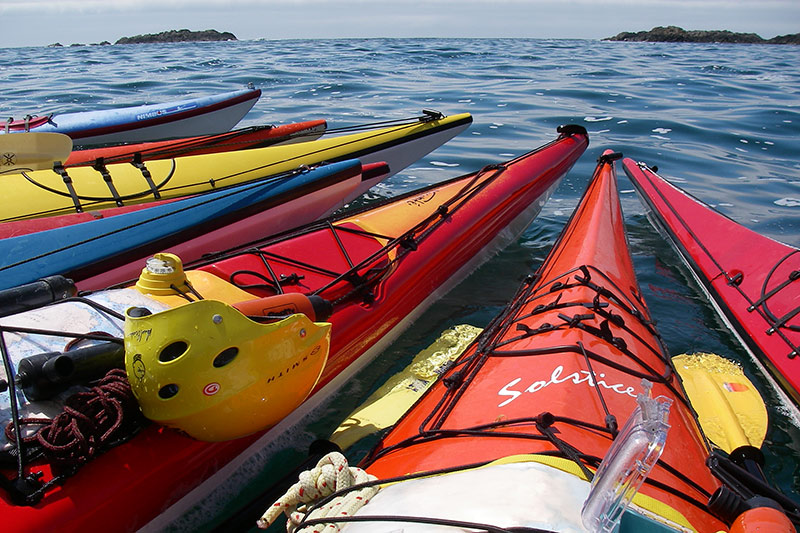 Sea Kayaks at Spirit of the West Adventures, British Columbia