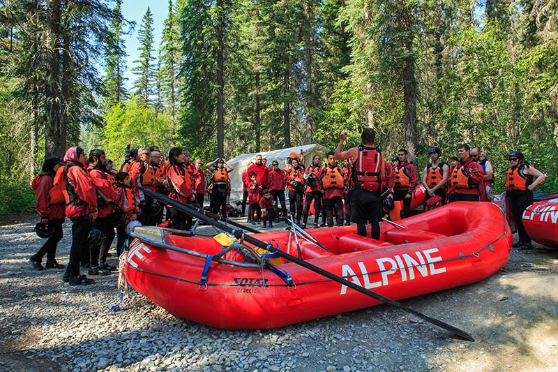 Alpine Rafting, Kicking Horse River, Golden, British Columbia