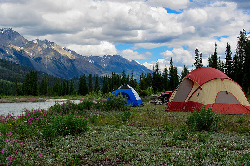 Alpine Rafting Campsite, Kicking Horse River, Golden, British Columbia