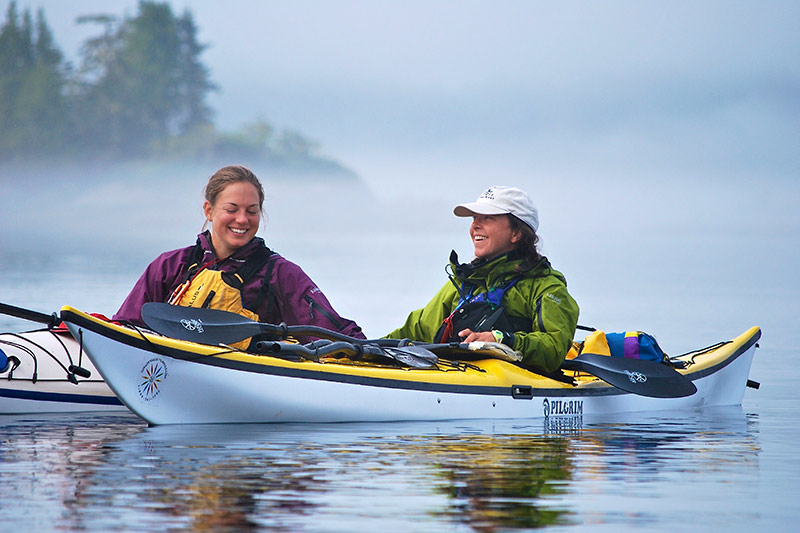Kayak the realm of the whales in British Columbia