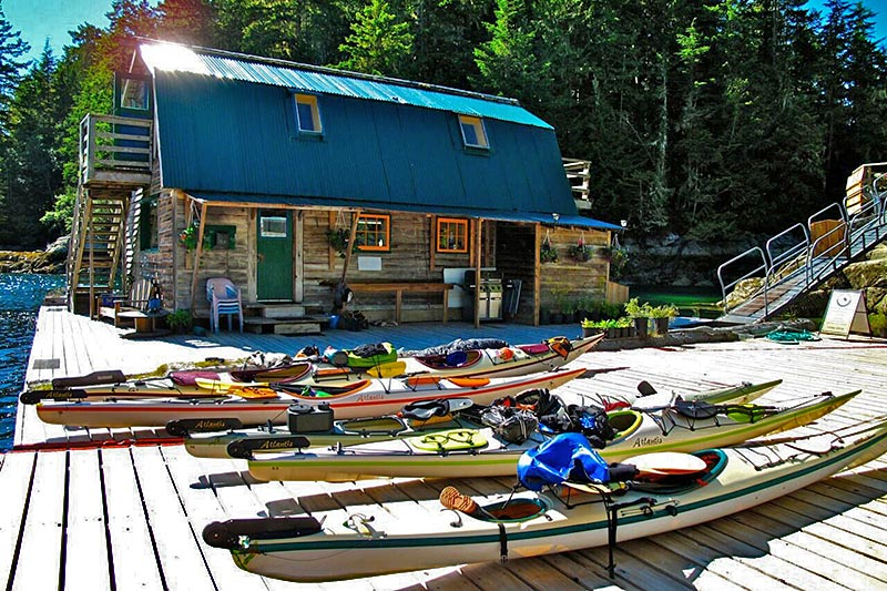 Paddler's Inn, Spirit of the West Adventures kayaking expeditions to Johnstone Strait and Broughton Archipelago, British Columbia, Canada
