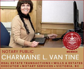 Charmaine L Van Tine Notary Public, Victoria, Vancouver Island, British Columbia