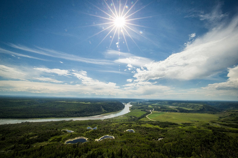 Peace River Valley, Northern British Columbia. Photo: Tristan Brand.