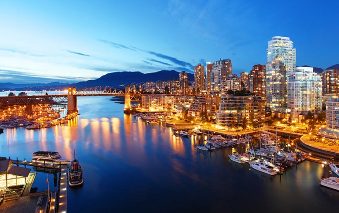 Downtown Vancouver, British Columbia, Canada.