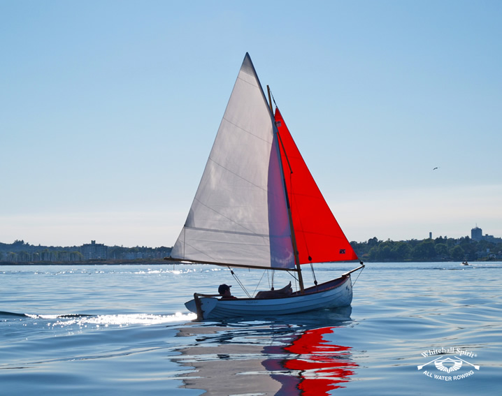 Classic Whitehall Spirit 17 Expedition Sailing Rowboat, Whitehall Rowing and Sail, British Columbia, Canada