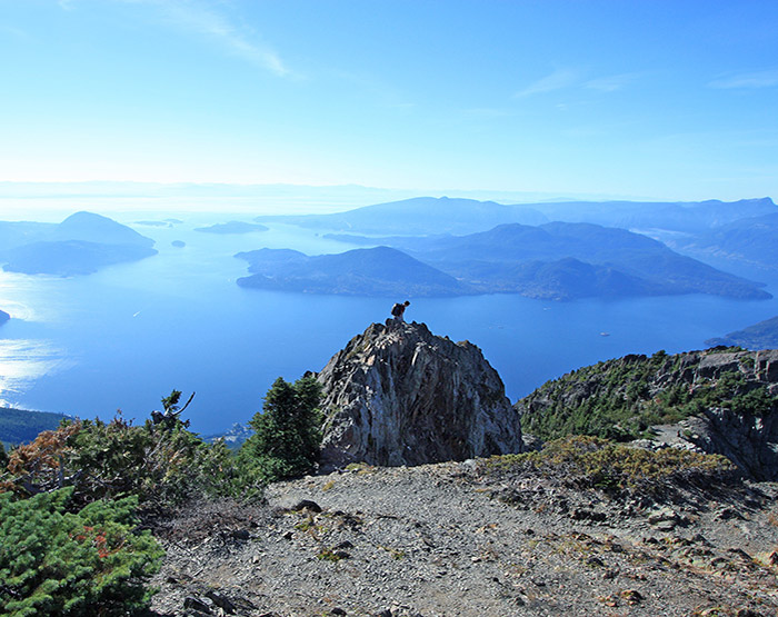 Howe Sound viewed from Cypress Provincial Park in West Vancouver, British Columbia, Canada