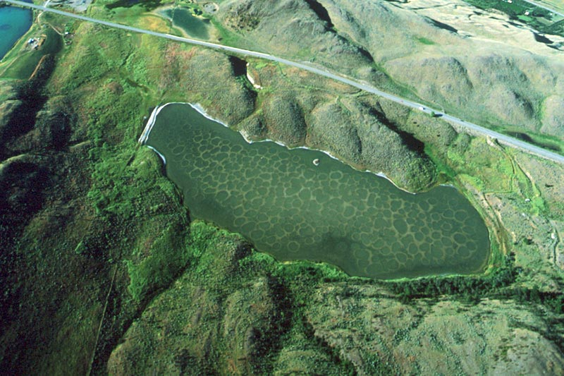 Klikuk, the sacred Spotted Lake in Osoyoos, southern Okanagan, British Columbia