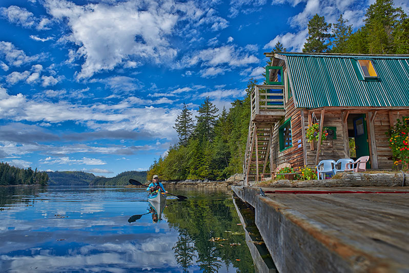 Broughton Archipelago Paddlers Inn, Simoom Sound, British Columbia
